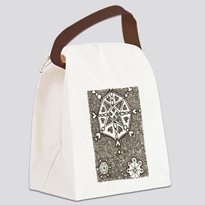 snowflakes and swirls Canvas Lunch Bag