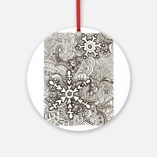 snowflake zen Ornament (Round)