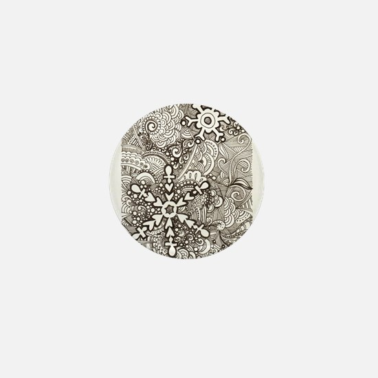 snowflake zen Mini Button