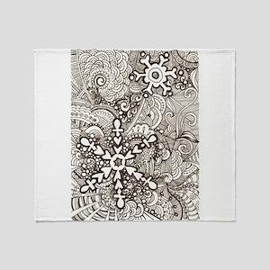 snowflake zen Throw Blanket