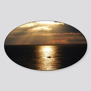 Cozumel Sunset Sticker (Oval)