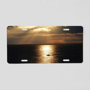 Cozumel Sunset Aluminum License Plate