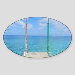 Cozumel Pier Sticker (Oval)