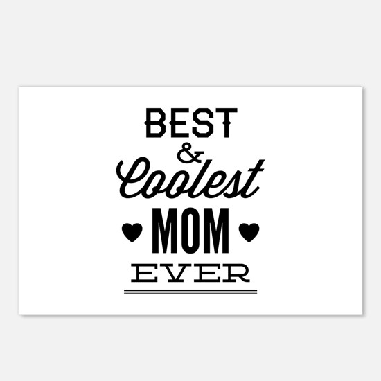 Best & Coolest Mom Ever Postcards (Package of 8)