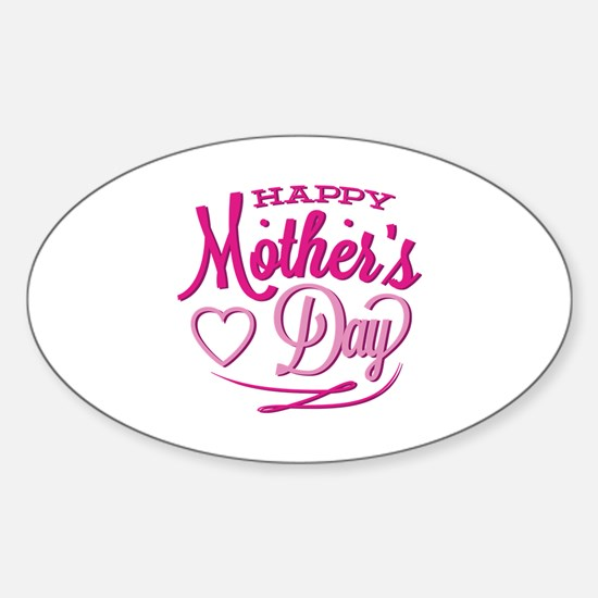 Happy Mother's Day Sticker (Oval)