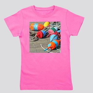 Lobster Buoys Girl's Tee