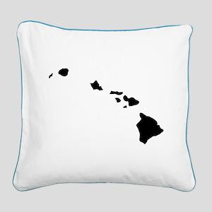 Black Square Canvas Pillow