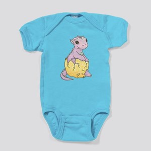 Dragon Hatchling Bright Baby Bodysuit (One-Piece)