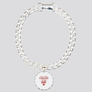 You Are Forever In My Heart Charm Bracelet, One Ch