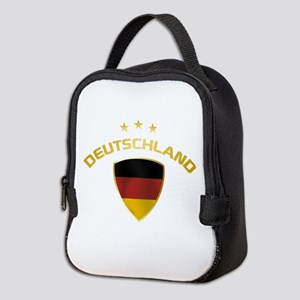Soccer Crest DEUTSCHLAND gold 1 Neoprene Lunch Bag