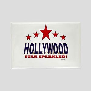 Hollywood Star Sparkled Rectangle Magnet