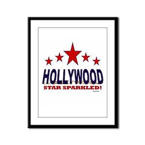 Hollywood Star Sparkled Framed Panel Print