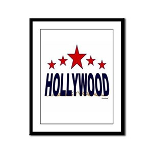 Hollywood Framed Panel Print
