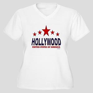 Hollywood U.S.A. Women's Plus Size V-Neck T-Shirt