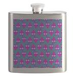 Purple Psychedelic Owl Pattern Flask