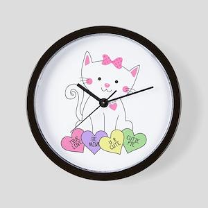 Valentine Kitty Wall Clock