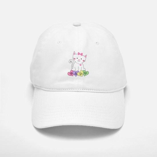 Valentine Kitty Baseball Baseball Cap
