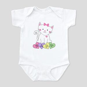Valentine Kitty Infant Bodysuit