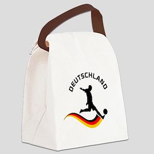 Soccer Deutschland Player Canvas Lunch Bag