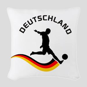 Soccer Deutschland Player Woven Throw Pillow