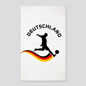 Soccer Deutschland Player 3'x5' Area Rug