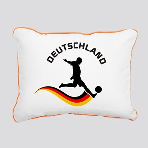 Soccer Deutschland Player Rectangular Canvas Pillo