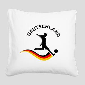 Soccer Deutschland Player Square Canvas Pillow