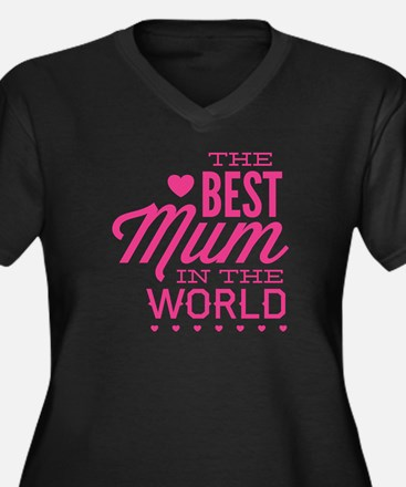 The Best Mum In The World Women's Plus Size V-Neck