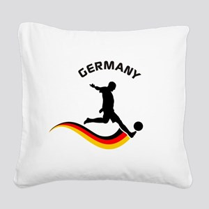 Soccer GERMANY Player Square Canvas Pillow