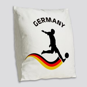 Soccer GERMANY Player Burlap Throw Pillow