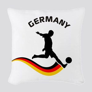 Soccer GERMANY Player Woven Throw Pillow