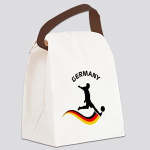 Soccer GERMANY Player Canvas Lunch Bag