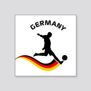 """Soccer GERMANY Player Square Sticker 3"""" x 3"""""""