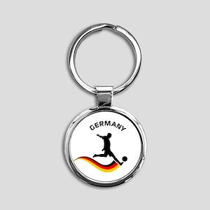 Soccer GERMANY Player Round Keychain