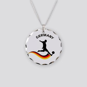 Soccer GERMANY Player Necklace Circle Charm