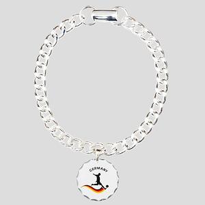 Soccer GERMANY Player Charm Bracelet, One Charm