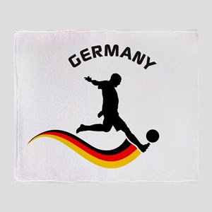 Soccer GERMANY Player Throw Blanket