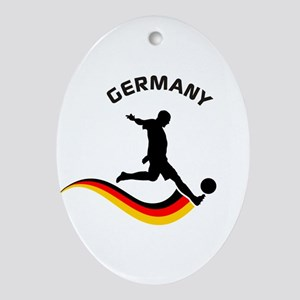 Soccer GERMANY Player Ornament (Oval)