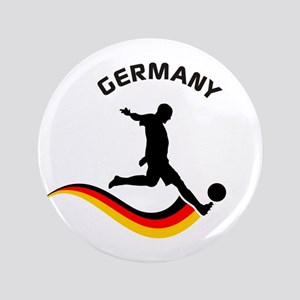 """Soccer GERMANY Player 3.5"""" Button"""