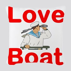 Love Boat Woven Throw Pillow