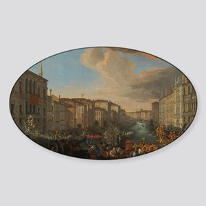Regatta on the Grand Canal Sticker (Oval)