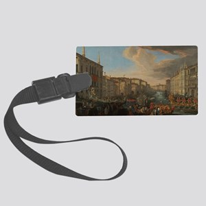 Regatta on the Grand Canal Large Luggage Tag