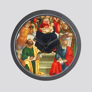 Madonna and Child with Saints and Angel Wall Clock