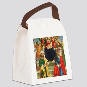 Madonna and Child with Saints and Canvas Lunch Bag