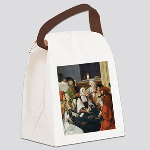 The Card Players Canvas Lunch Bag
