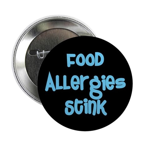 "Food Allergies Stink 2.25"" Button (10 pack)"