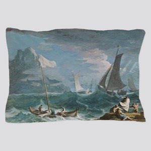 Fishing Boats in a Storm Pillow Case