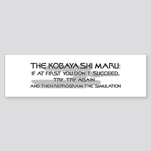Kobayashi Maru - Try Try Again! Bumper Sticker