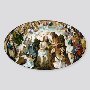 The Baptism of Christ Sticker (Oval)