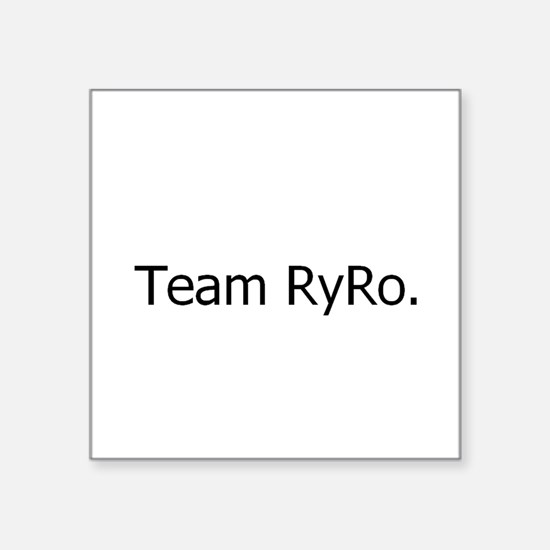 Team RyRo Rectangle Sticker
